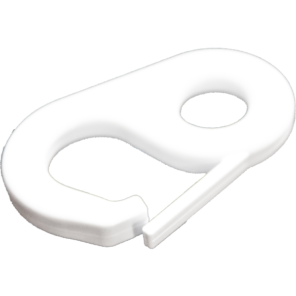 Snap Clip for Flags - White Nylon